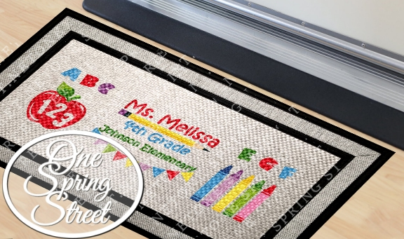 Doormat Teachers Gift Class Room Welcome Mat R225A