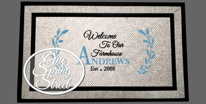 Doormat Farmhouse Welcome Mat R235-WELCOME MAT, DOOR MAT, CUSTOM, PERSONALIZED, FARMHOUSE, STYLE, Front porch, back porch, friend, VINTAGE, MODERN, DOORMAT, GIFT, FAMILY, CHRISTMAS GIFT, MOTHERS DAY GIFT,