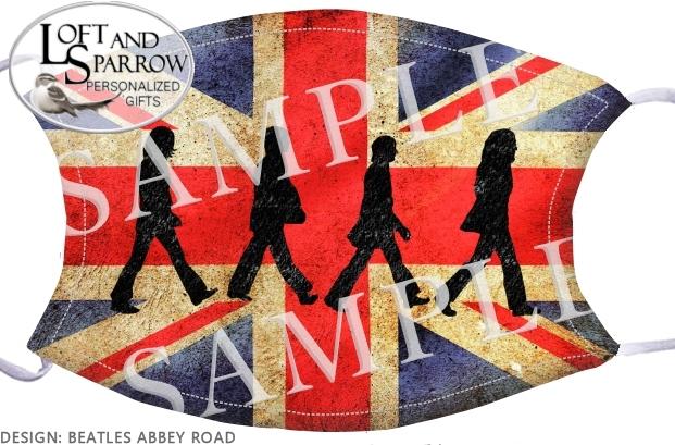 FACE MASK Beatles Abbey Road