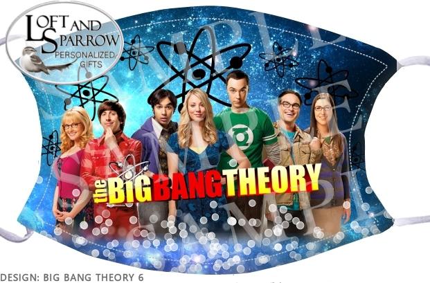 FACE MASK Big Bang Theory Cast