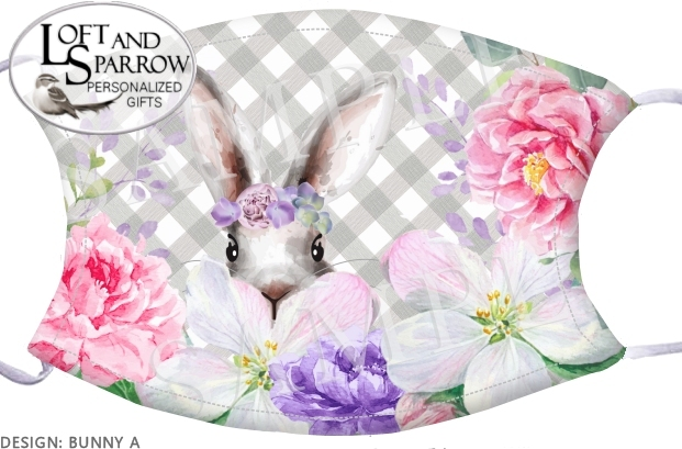 FACE MASK Easter Bunny Rabbit
