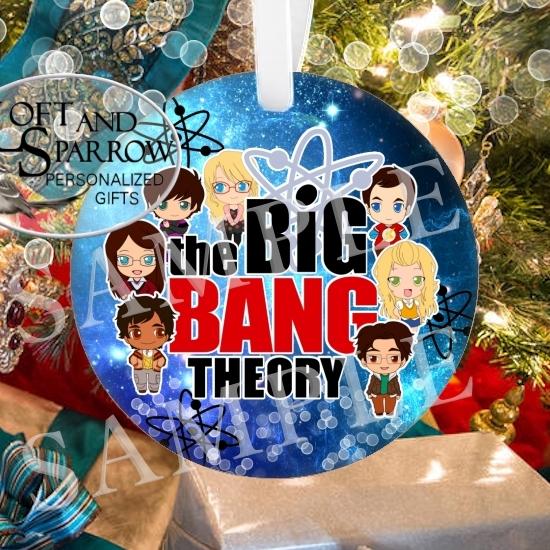 ORNAMENT Big Bang Theory Cartoon Cast