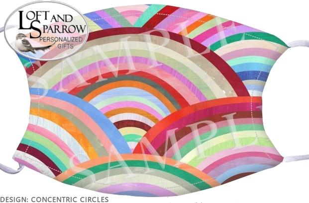 FACE MASK Concentric Circles