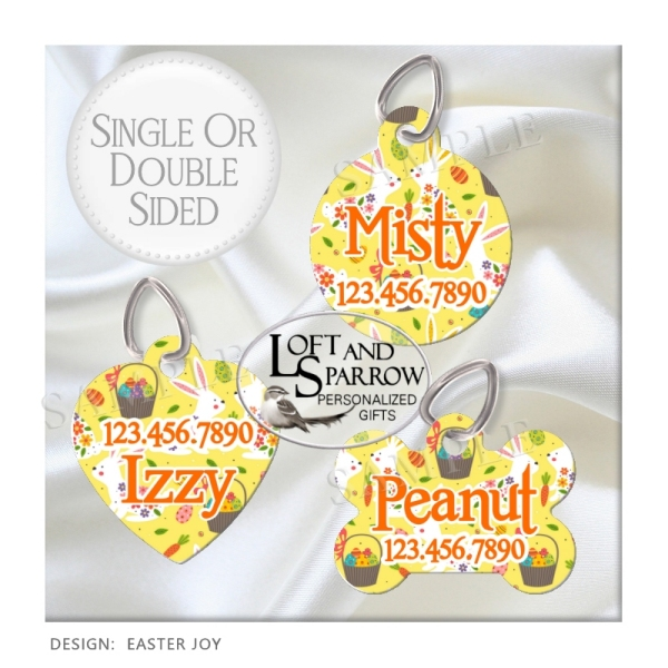 DOG ID Tags Easter Joy