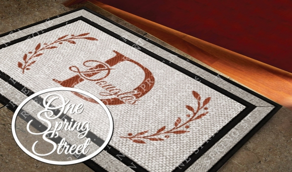 Doormat Monogram Welcome Mat R201A