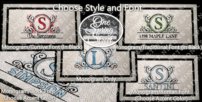 Doormat Monogram Welcome Mat R234-Welcome Mat, Doormat, Personalized, door mats, rugs, realtor gift, new home gift, wedding gift, custom, new baby gift, shower gift, Christmas gift,bridal shower,
