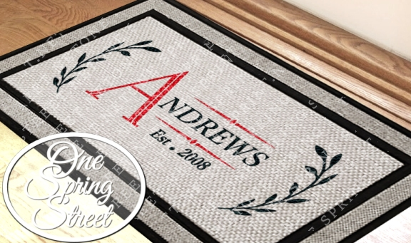 Doormat Personalized Welcome Mat R232-Personalized Door Mat, Doormat, Custom Door Mat, Personalized Welcome Mat, Wedding Gift, Personalized Doormat, Housewarming gift, Family,Welcome Mat, Doormat, Personalized door mats, rugs, realtor gift, new home gift, wedding gift, custom, new baby gift, shower gift, Christmas gift,bridal shower,