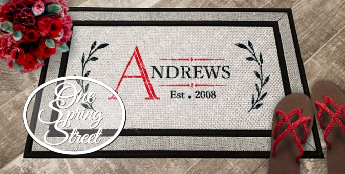 Doormat Personalized Welcome Mat R232