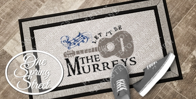 Doormat Guitar Music Notes Beatles Inspired Welcome Mat R223Guitar-MUSIC, BEATLES, IMAGINE, LET IT BE, GUITAR, MUSIC NOTES, PENNY LANE, Personalized Door Mat, Doormat, Custom Door Mat, Personalized Welcome Mat, Wedding Gift, Personalized Doormat, Housewarming gift, Family,Welcome Mat, Doormat, Personalized door mats, rugs, realtor gift, new home gift, wedding gift, custom, new baby gift, shower gift, Christmas gift,bridal shower,