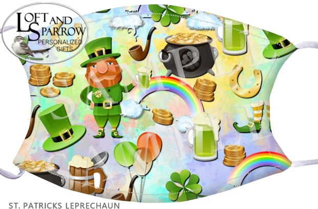 FACE MASK Leprechaun St Patrick's Day