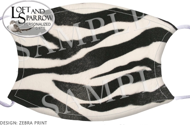 FACE MASK Zebra Print
