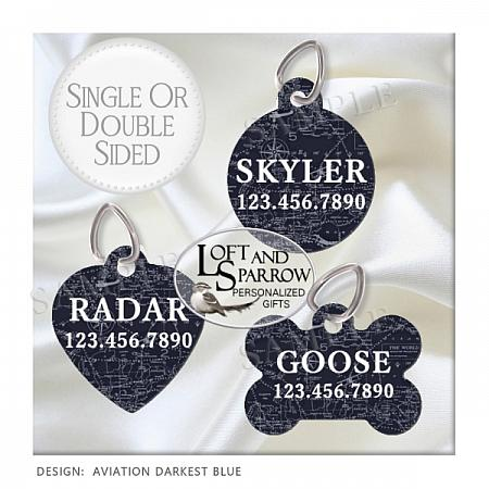 DOG Pilot Aviation ID Tags-dog collar, dog ID tag, dog collar, dog scarf, cat bandana, pet scarf, pet store, pet collars, dog harness, pet supplies, dog boutique, dog fashion, juicy couture dog, luxury dog clothes, designer dog clothes dog chewy dog amazon