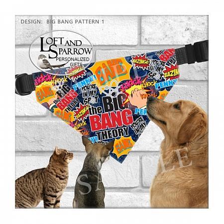 PET Big Bang Theory Dog Bandana-Big Bang Theory DOG BANDANA SHELDON DOG TAGS Sheldon Penny Christmas Quarantine Explain sneeze TBBT Big Bang Theory Big Bang Gift