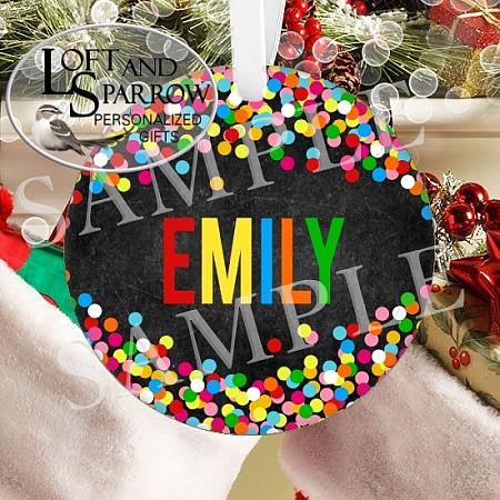 ORNAMENT CHALKBOARD CONFETTI MULTI-ORNAMENT CHALKBOARD CONFETTI MULTI BIRTHDAY CELEBRATION ORNAMENT CHRISTMAS FAMILY ORNAMENT FIRST CHRISTMAS SCHOOL TEACHER ORNAMENT Loft And Sparrow custom personalized gifts, custom house portraits, pet portraits, watercolor portraits, Christmas ornaments, cruise banners, door banners, wreath add ons, key chains, magnets, pillows  so much more Custom Snowman Wearing a Face Mask 2020 Quarantine Personalized Christmas Ornament Scandinavian Gnome