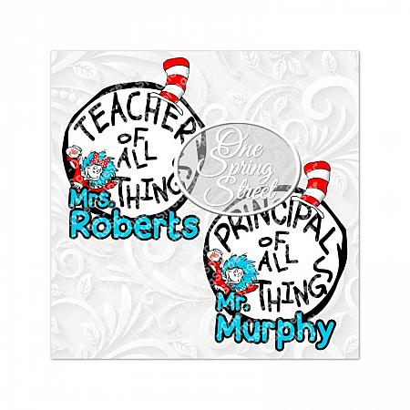 Dr Seuss Day Teacher Of All Things Personalized PRINTABLE-Teacher of all things, Dr. Seuss Day, thing 1, thing 2, printed,shipped, Teacher gift, Elementary, Of all things,clip art, first grade, second grade, third grade, kindergarten, school, teachers appreciation, pta, Image, Clipart, Doctor Seuss Day Personalzied