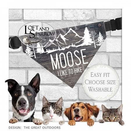 DOG ID Tags The Great Outdoors-Hiking dog collar, Camping dog ID tag, Ranch, dog collar, Farm, dog scarf, cat bandana, pet scarf, pet store, pet collars, dog harness, pet supplies, dog boutique, dog fashion, juicy couture dog, luxury dog clothes, designer dog clothes dog chewy dog amazon